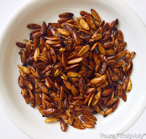 Yum: Roasted melon seeds!