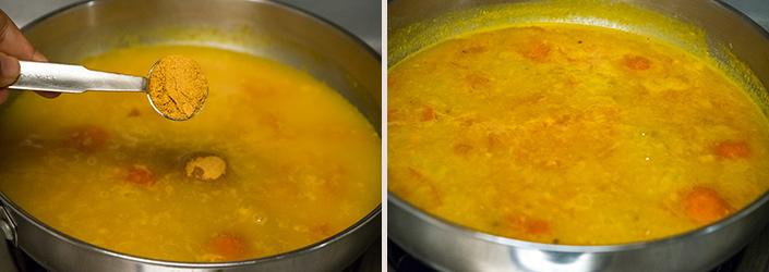Murungai Keerai Sambar cooking steps by GoSpicy.net
