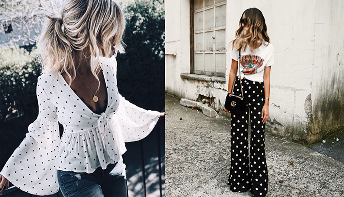 polka dot outfits for this summer trend 2018 style fashion tendencias10