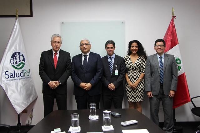 Representantes del Hospital Universitario Austral de Argentina presentaron Cartera de Servicios a SALUDPOL