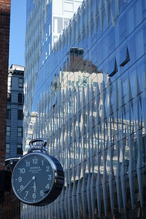 Watch & Reflection in DUMBO in Brooklyn in New York City, NY
