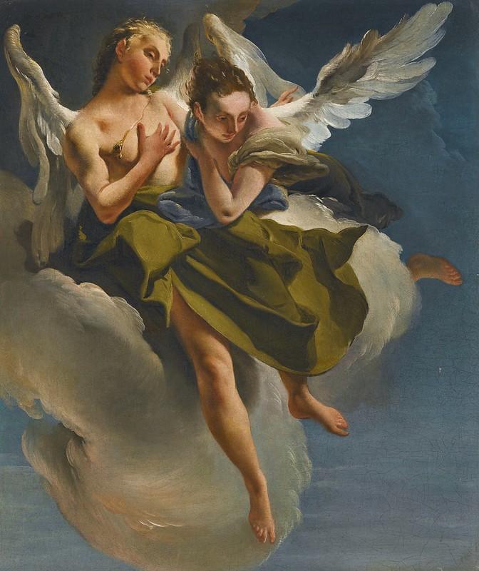 Giovanni Battista Tiepolo - Two angels in flight