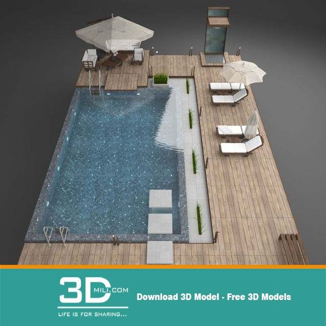 Pool 3dsmax File Free Download 3d model