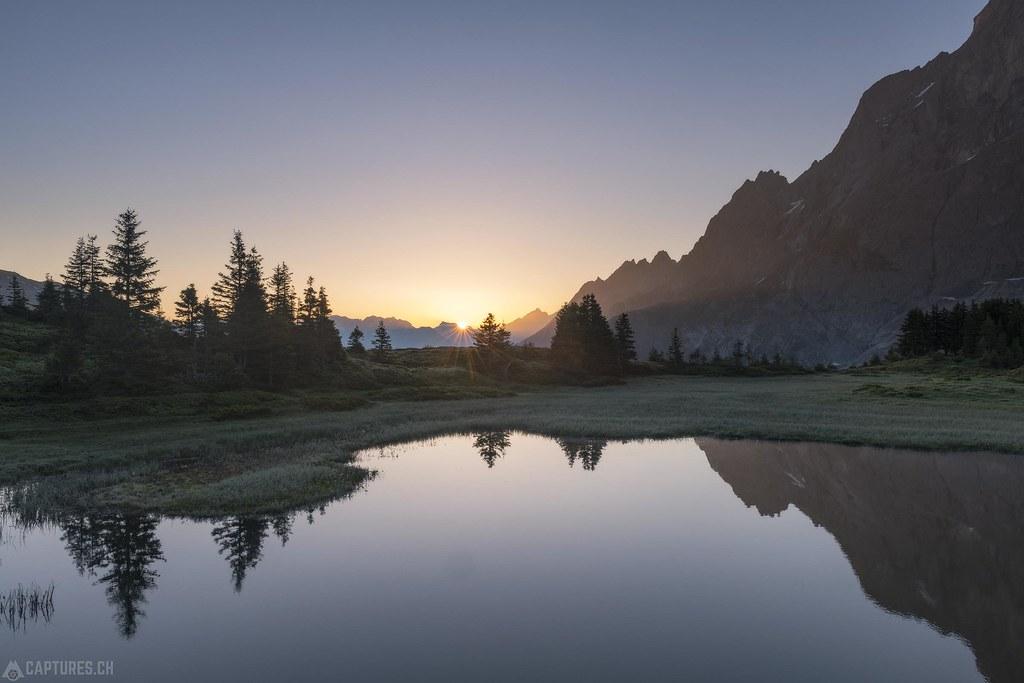 First sun rays - Grosse Scheidegg