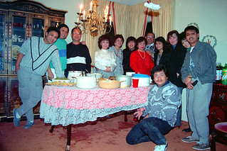 Family and the magic levitating napkin