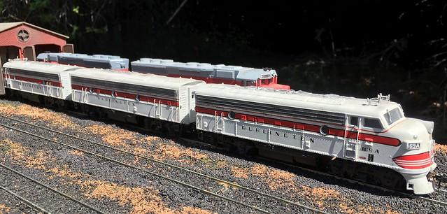 HO Scale Burlington F7 A-B-A Set
