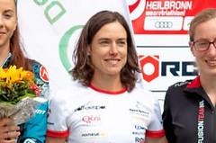 Simona Křivánková pod podiem na Challenge Heilbronn Half
