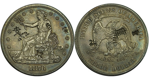 Lot 483 - Chopmarked Trade Dollar