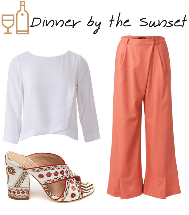 Dinner by sundset