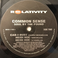 COMMON SENSE:SOUL BY THE POUND(LABEL SIDE-B)