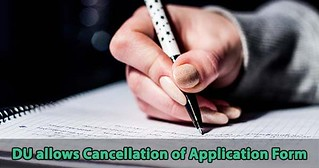 DU allows the cancellation of multiple application form