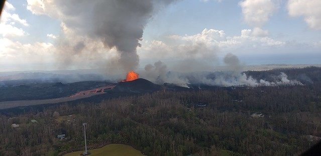 Kilauea, HI - East Rift Zone Eruption Event - 06/08/18 Photos and Video