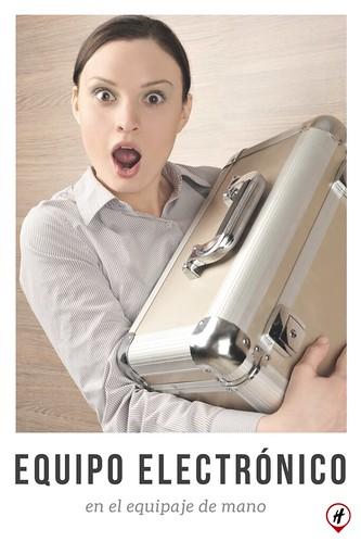 Equipo electrónico en equipaje de mano
