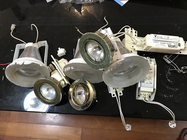 Old lights to be disposed.