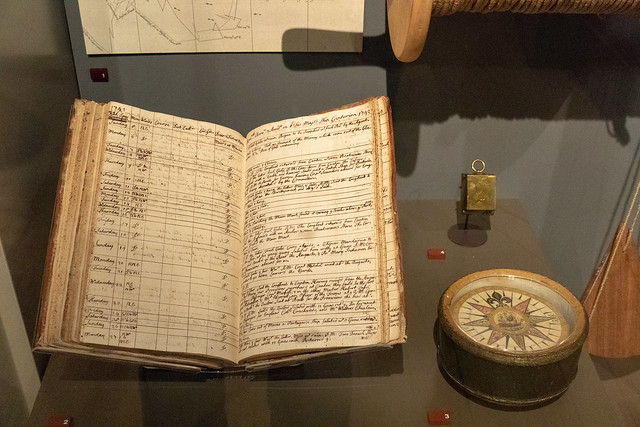 Lieutenat's Log from the Centurion & Mariner's compass