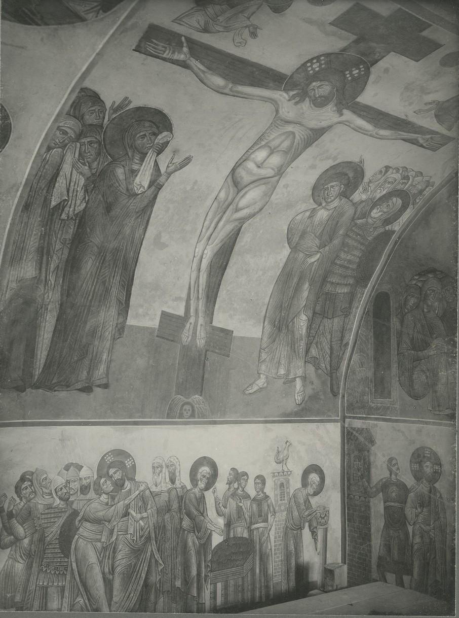 Фрески  «Распятие Господне», «Предательство Иуды», «Отречение Петра»