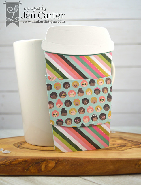 Jen Carter To Go Coffee Cup Gift Card Holder Die Striped wm