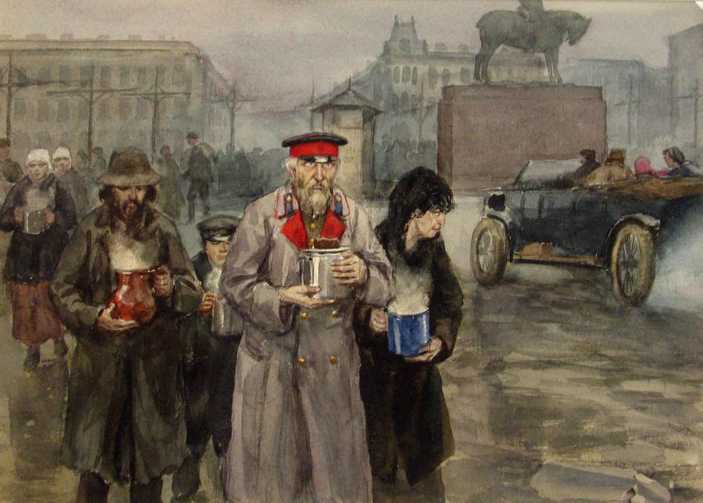 俄国内战与革命的写实绘画21