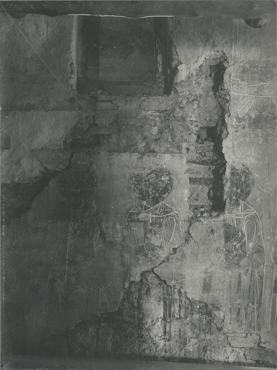 Фрагменты росписи  Спасо-Преображенского собора Мирожского монастыря, не поддающиеся атрибуции