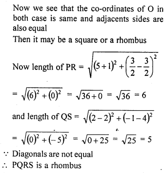 RD Sharma Solutions Class 10 Chapter 14 Co-Ordinate Geometry