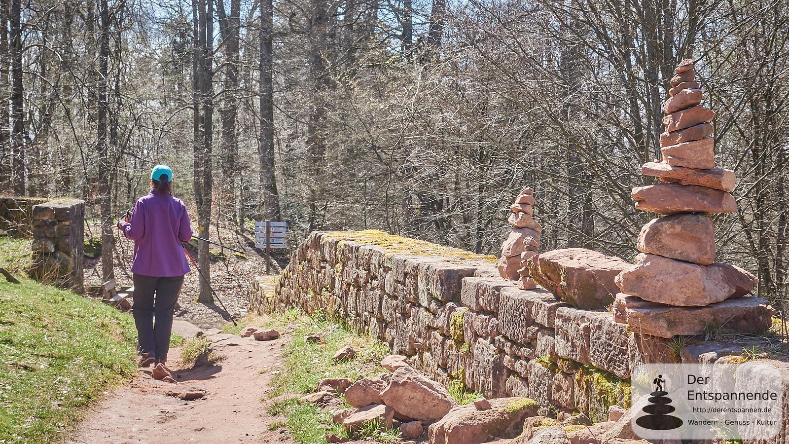 Abstieg von der Wegelnburg