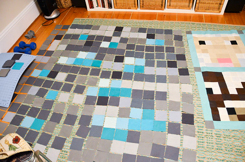 1. Cut & Layout Fabric Squares