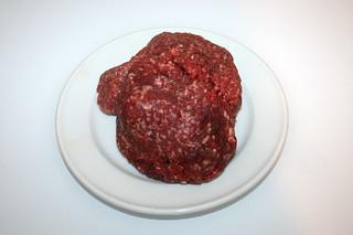 04 - Zutat Rinderhackfleisch / Ingredient minced beef