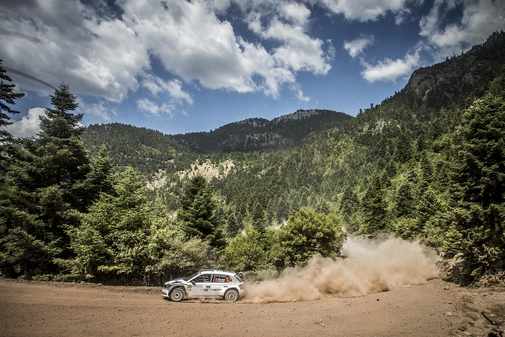 12 AVCIOGLOU Orhan (tur), KORKMAZ Burcin (tur), Skoda Fabia R5, action during the European Rally Championship 2018 - Acropolis Rally Of Grece, June 1 to 3 at Lamia - Photo Gregory Lenormand / DPPI