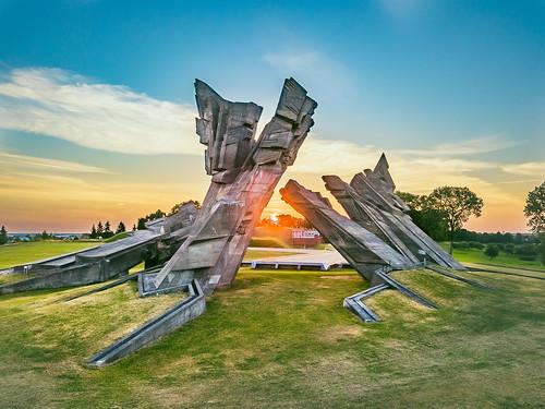 ix fort 9 fortas monument kaunas aerial sunrise europe morning lietuva lithuania dronas 2018 djieurope drone aerialphotography dji djimavicpro mavic pro mavicpro birdseye djiglobal 365days 3652018 365 project365 155365