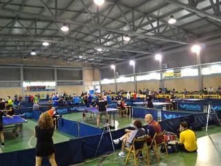 Il palazzetto dello sport durante il campionato regionale di quinta categoria