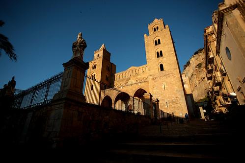Cefalù: tramonto sulla cattedrale