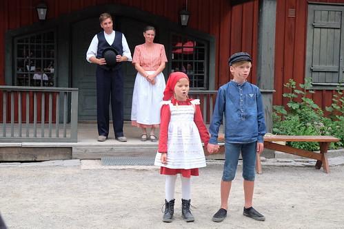 Mattias och Josefin Schönbeck med Elise Zinderland och Noah Andersson