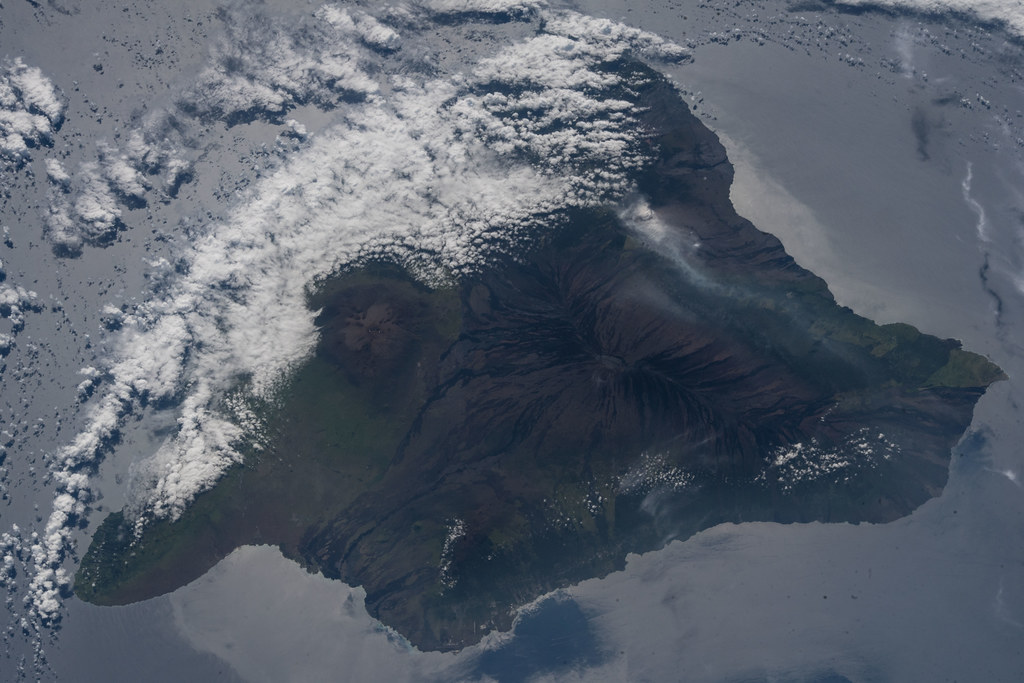 The volcanic ash plume from Mount Kilauea