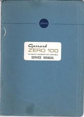 Garrard TechEng Service Manual Zero 100