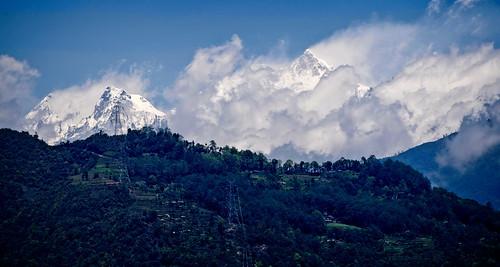 sikkimindia2018 kangchenjunga mountainrange sikkim india majitar in