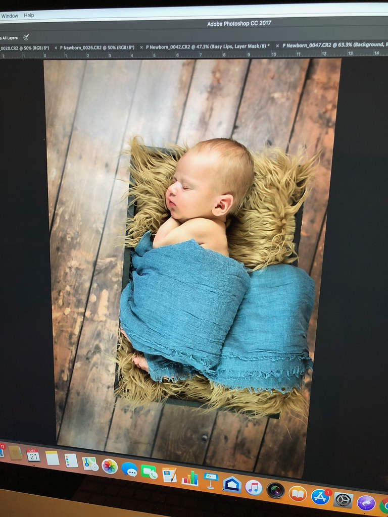 editing newborn pictures