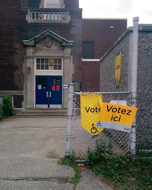 Vote/Votez ici #toronto #dovercourtvillage #bartlettavenue #davenport #onpoli #elxn2018 #dovercourtpublicschool