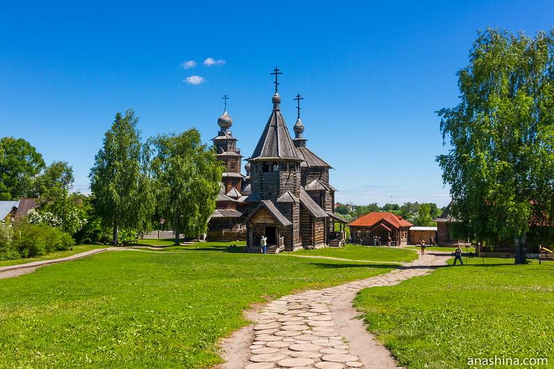 Преображенская и Воскресенская церкви, Музей деревянного зодчества, Суздаль