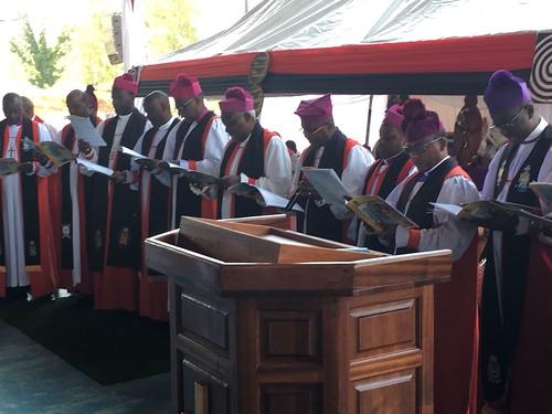 Bishops from Rwanda at the enthronement of Archbishop Laurent Mbanda as Primate of Rwanda