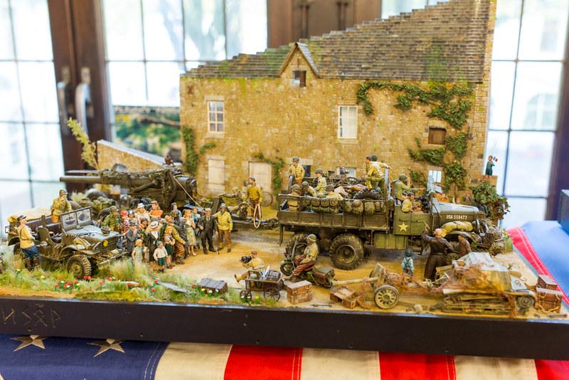 Diorama troupes US en Normandie