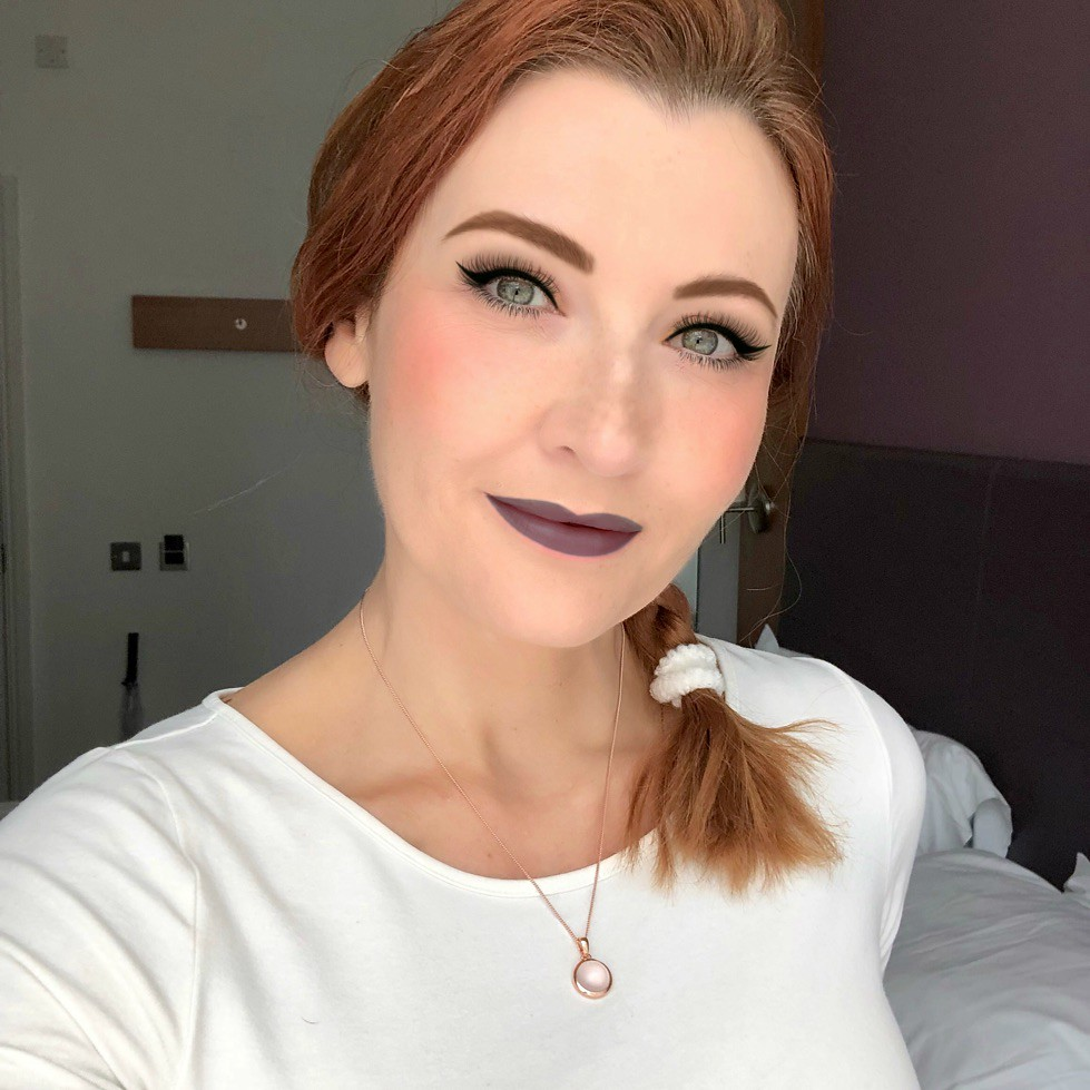 In Praise of Natural Makeup: A 40-something year old face with Instagram makeup (using a makeup filter) | Not Dressed As Lamb, over 40 style blog