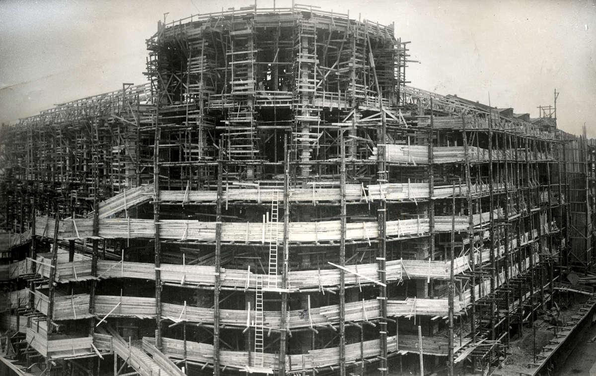 1927. Строительство здания Центрального телеграфа.  Москва