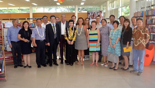 Visite de la délégation de l'Université de l'Océan de Shanghai et de l'Association du Peuple de Shanghai pour l'Amitié avec l'Etranger