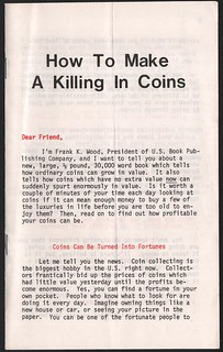 Killing in Coins booklet Front