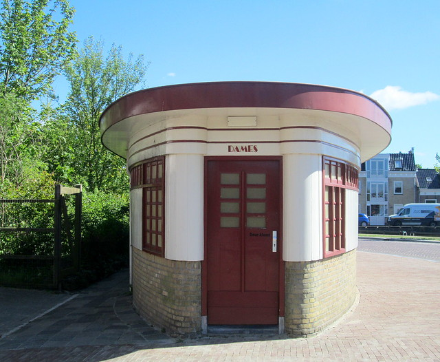 Door to Art Deco Toilet Block in Sneek