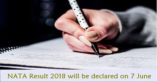 NATA Result 2018 will be declared on 7 June 2018