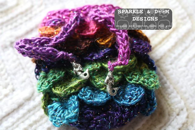 RTS Dragon Dice Bag rainbow sparkle mermaid 01a