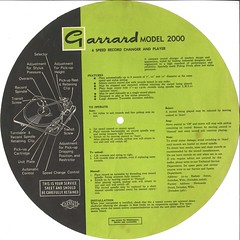 Garrard Model 2000 Instructions