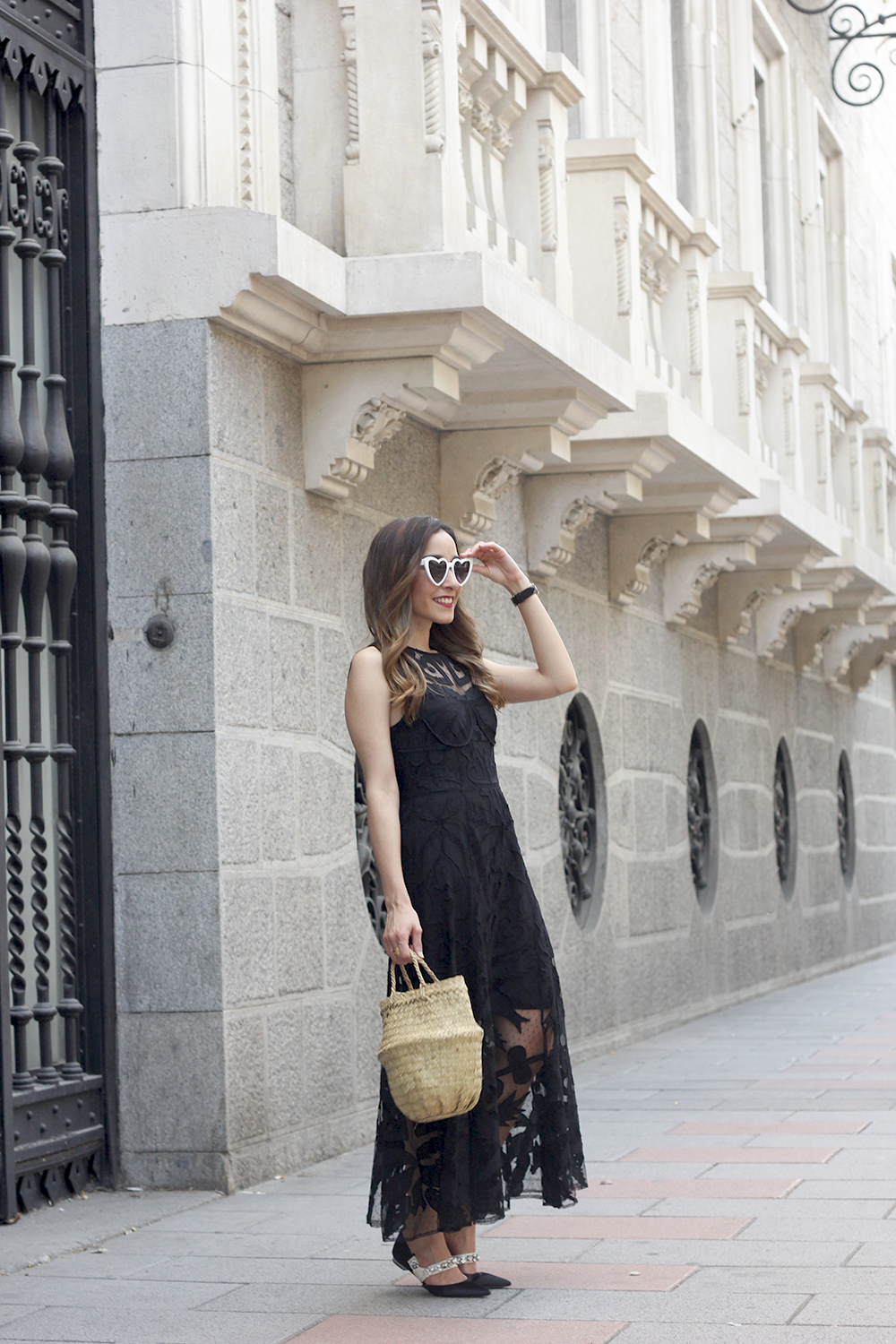 black lace maxi dress summer outfit 2018 14