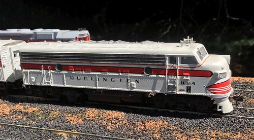 HO Scale Burlington F7A